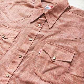 Levis Big E Westerner Shirt Made in Hong Kong