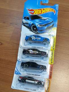 Hot Wheels Dodge lot of 4