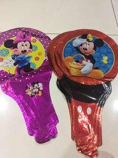 Mickey Minnie balloons- handheld type