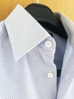 Marks & Spencer Autograph Pure Cotton Blue Shirt 馬莎藍色襯衫 恤衫
