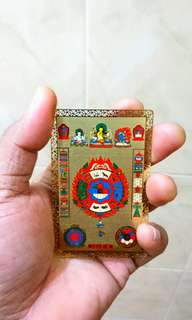 999.9 GOLD PLATED CHINESE ANIMAL ZODIAC LUCKY CARD