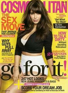 Kim Kardashian on Cosmopolitan magazine