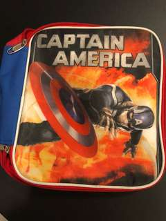 Captain America foil insulated lunch bag