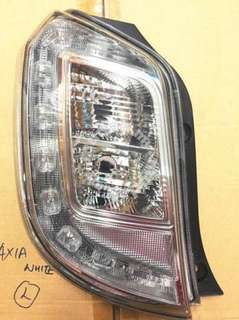 Axia SE white Tail Lamp lampu belakang rear lamp