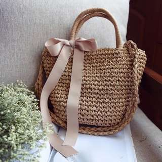 Louelle Straw Bag