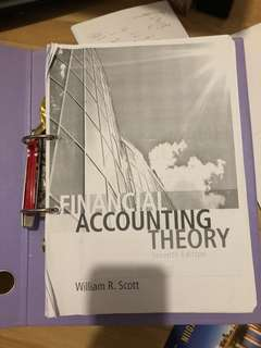 Financial accounting theory seventh edition william r.scott