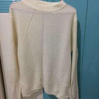 Sweater Jaring White