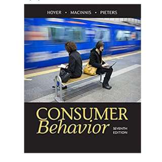 MKT3402 Consumer Behaviour Textbook 7th edition