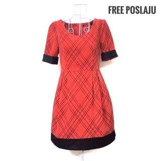 Red Plaid Dress [FREE POSLAJU]