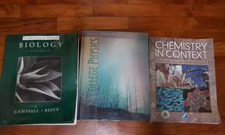 Biology Campbell, Chemistry In Context, College Physics