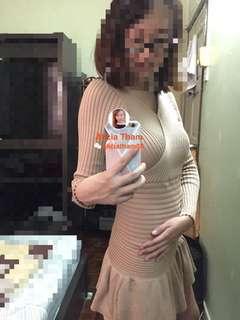 NEW Nude Knit Dress