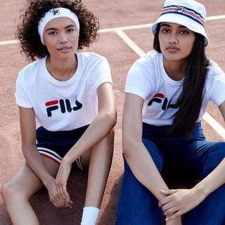INSTOCKS Fila logo tshirt top - white