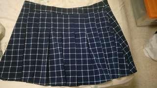 Plus size pleated skirt