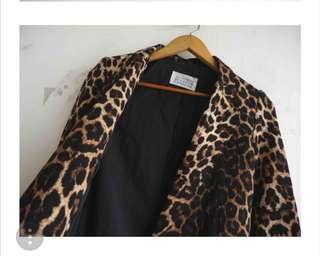 韓國豹紋帥氣西裝外套