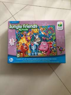 Jigsaw Big Floor Puzzle Jungle Friends 12 pieces