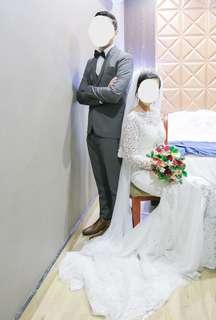 Wedding dress + men's suit