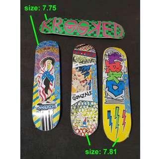 Skateboarding deck