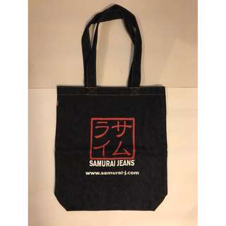日本SAMURAI JEANS重磅牛仔布袋 denim tote bag, unisex 全新100%NEW