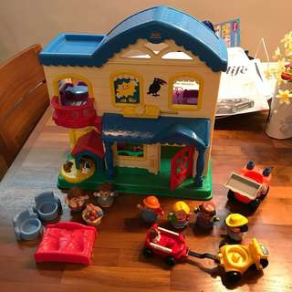 Little People House etc huge playset