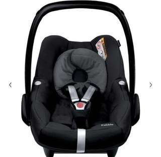 Maxi Cosi Pebble Group 0+ Baby Car Seat, Black Raven