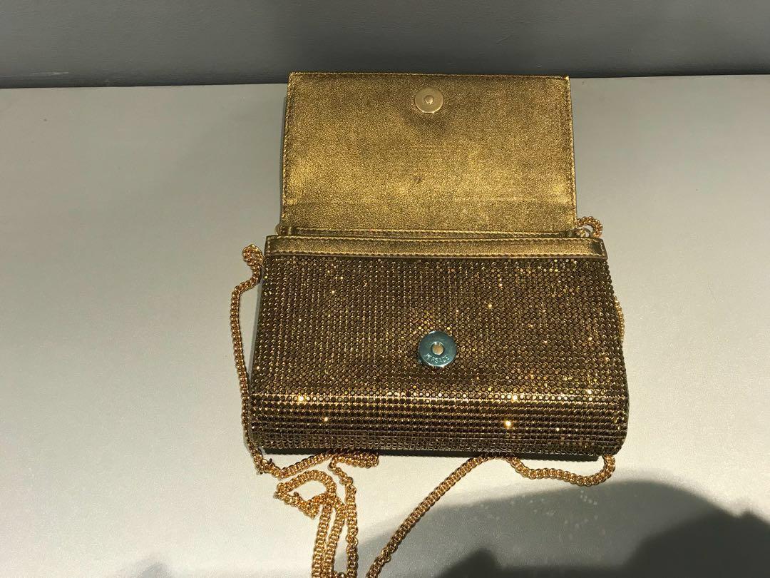 574ab1c54a ( ORIGINAL )Versace Palazzo clutch with Medusa and Swarovski Crystals (  GOLD )