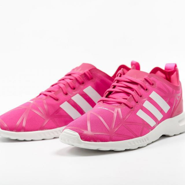 new style bddf4 0853d Adidas Women Originals Trainers- ZX FLUX ADV SMOOTH (Pink/Core White)