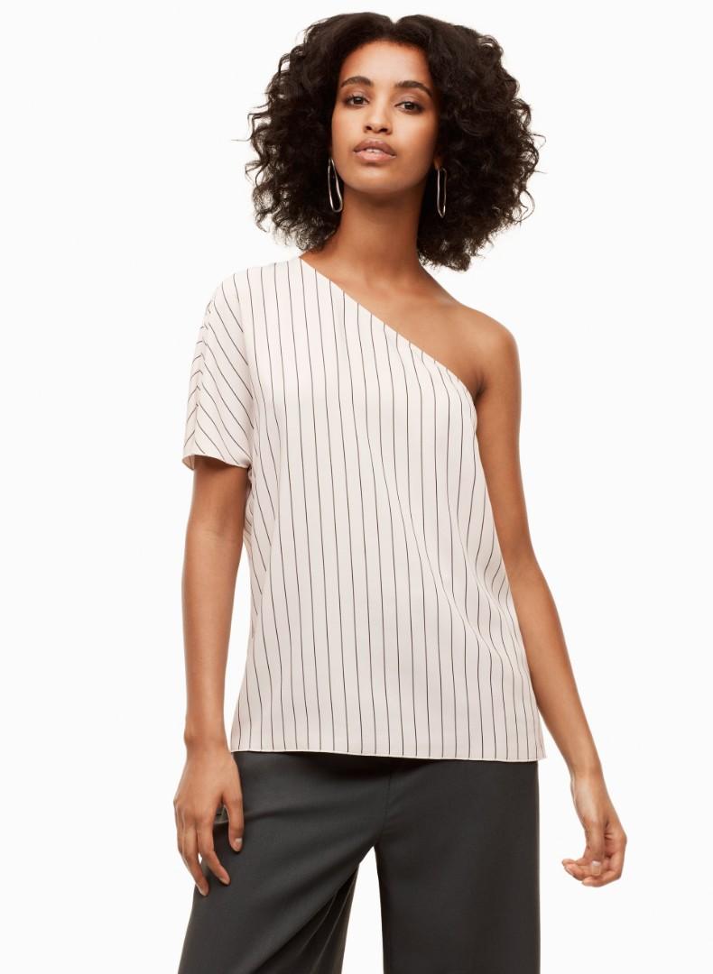 Aritzia babaton one shoulder blouse