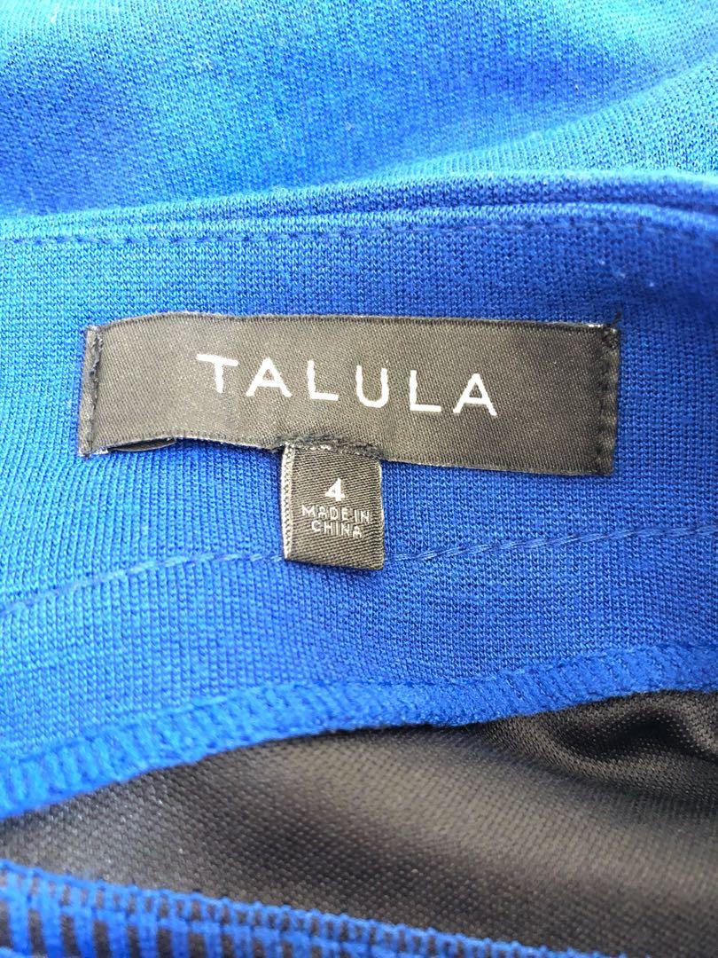 Aritzia Talula Leather Panel Cobalt Skirt