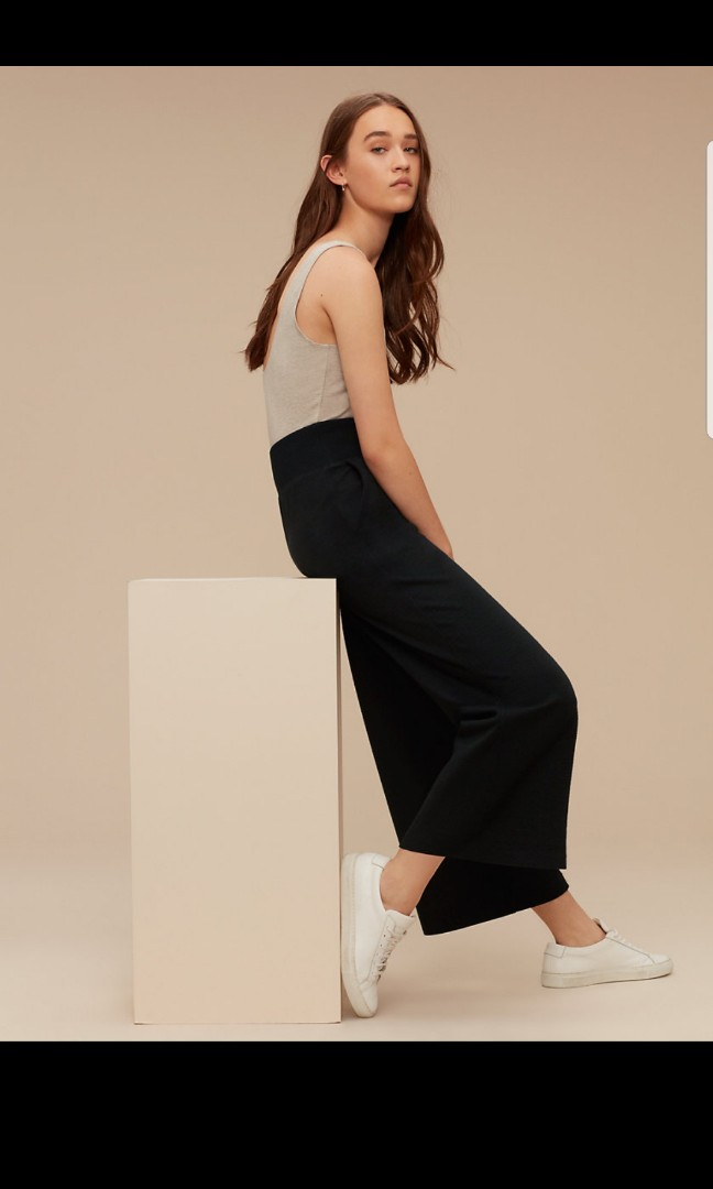 Aritzia wilfred wide leg culottes pants