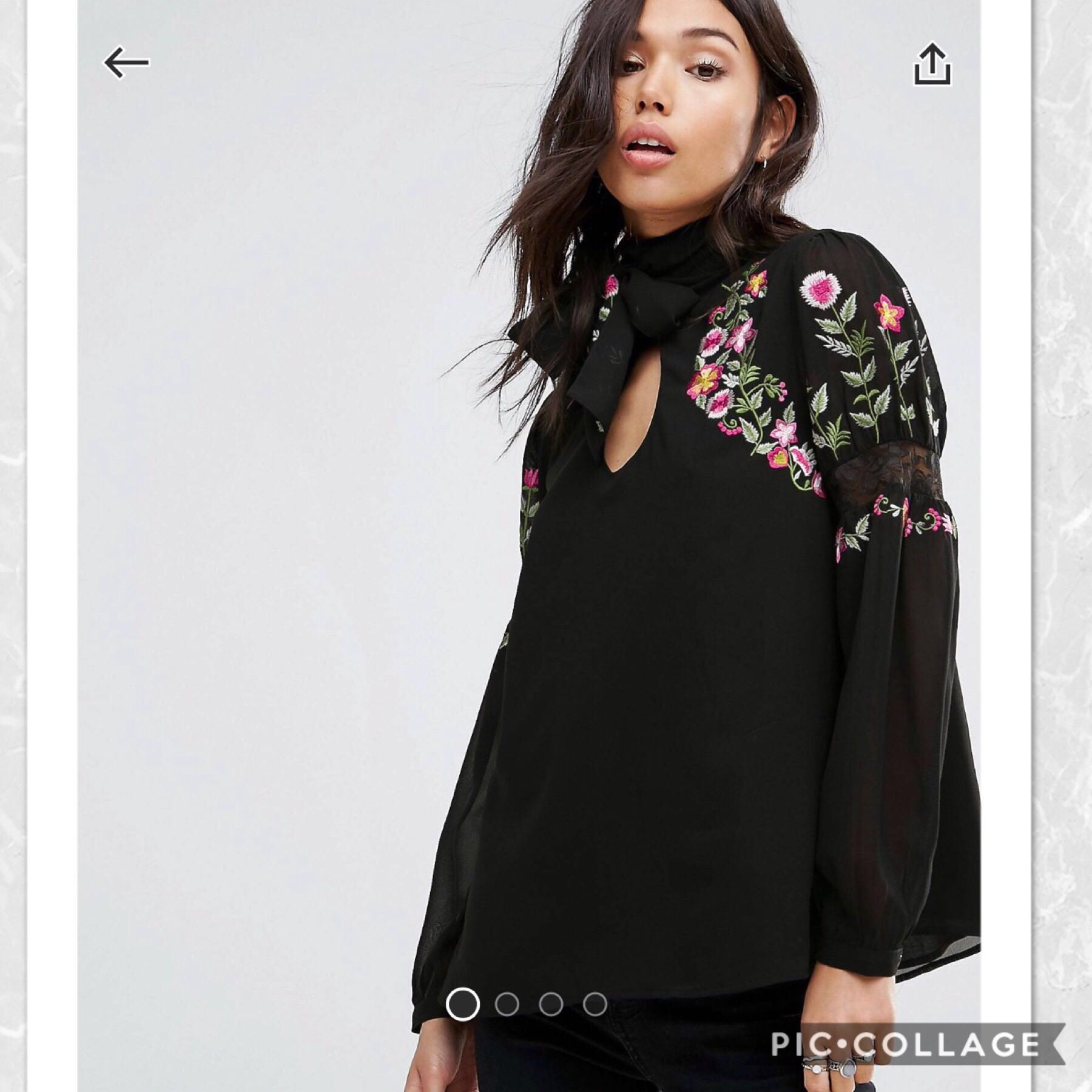 52924560218cb4 Asos Embroidered Lace blouse