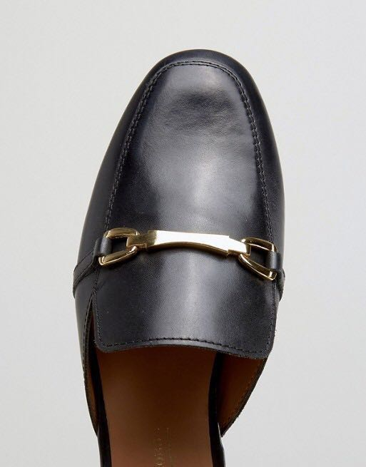 e40a1e44484 ASOS Movie Leather Mule Loafers