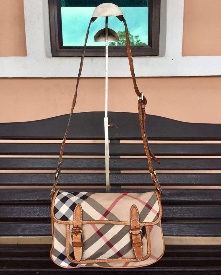 e578c47755a Authentic Burberry haymarket crossbody sling bag, Women's Fashion ...