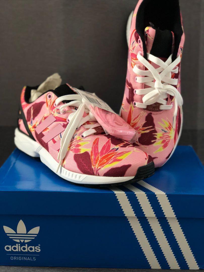 e3b56dc22fae6 BNIB Adidas ZX Flux Cheetah Pink US 10.5