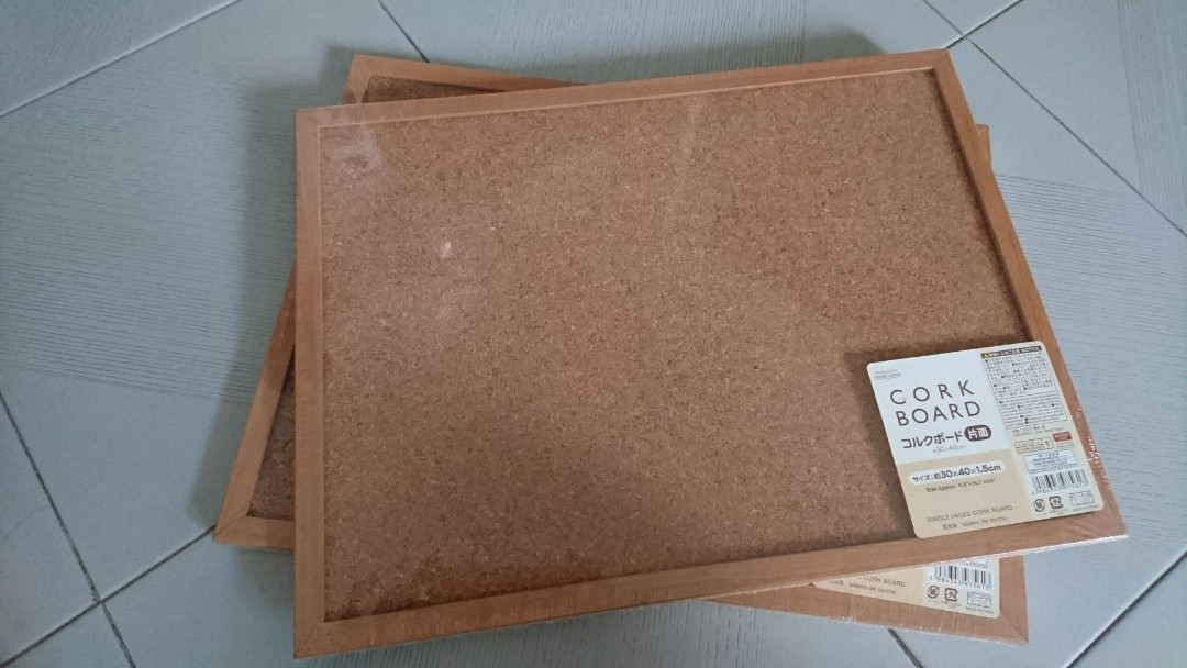 Brand new cork board x 2