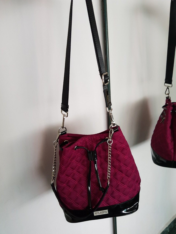 44f8f9102393 Santa Barbara Polo Club Bucket Bag nylon leather