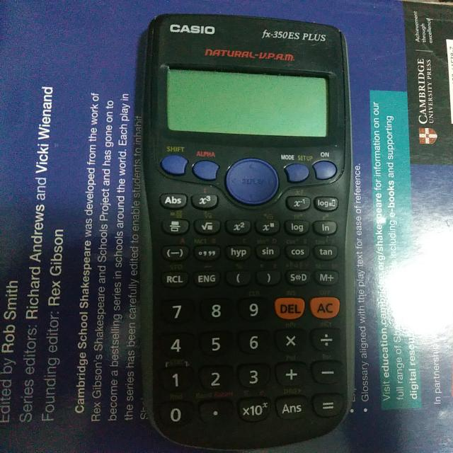 Casio Calculator(fx-350ES PLUS), Books & Stationery, Stationery on Carousell