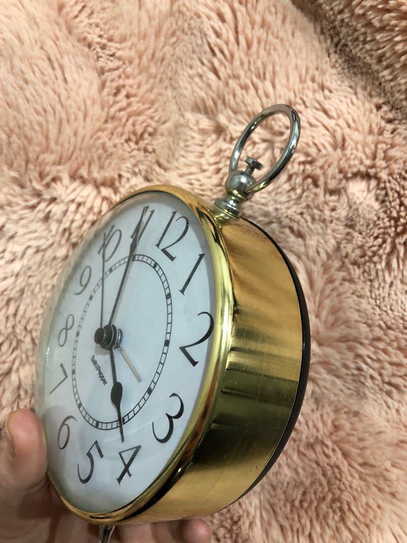 cute gold mini clock