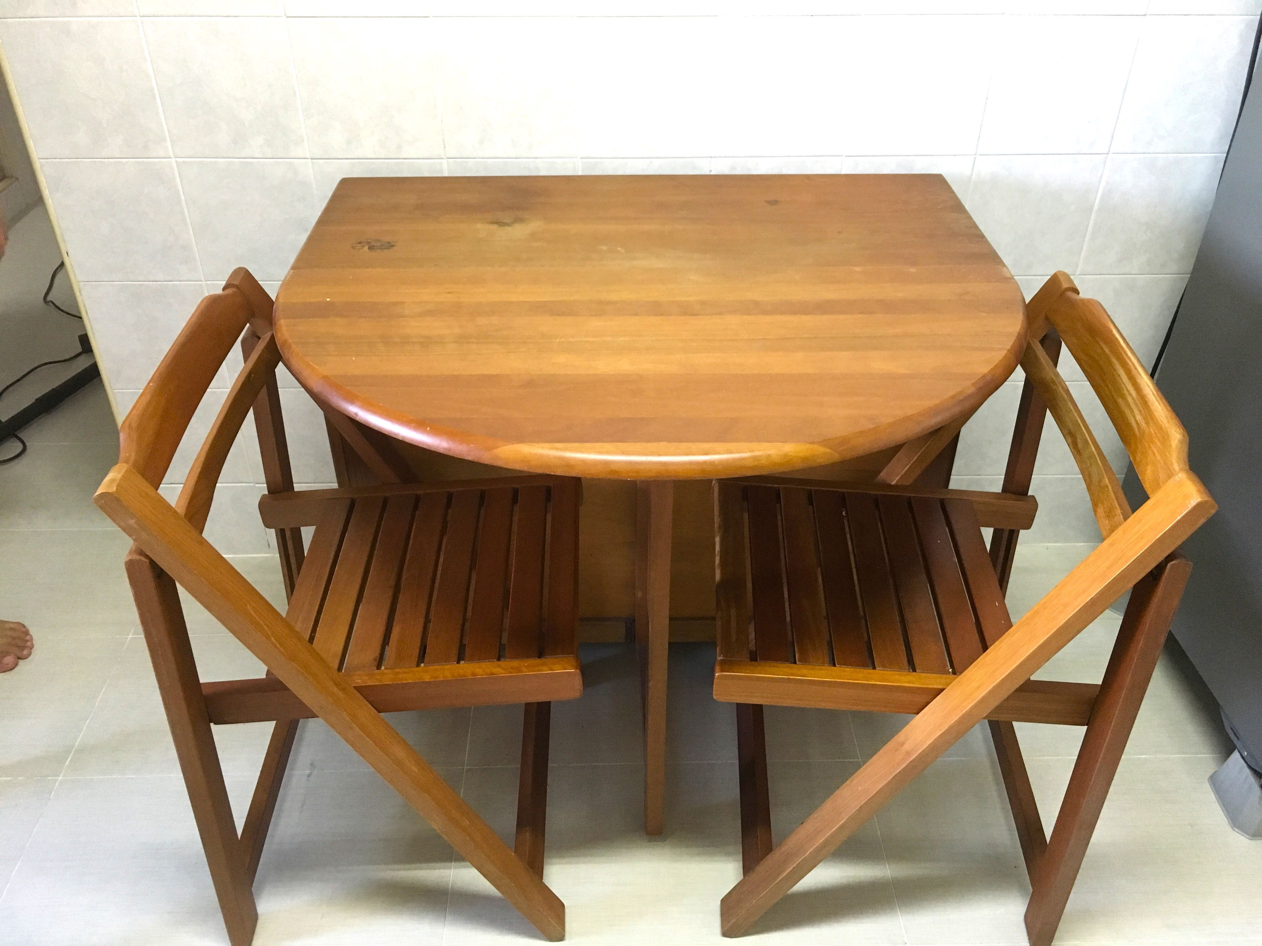 Good Quality Foldable Extendable Dining Table Furniture Tables Chairs On Carousell