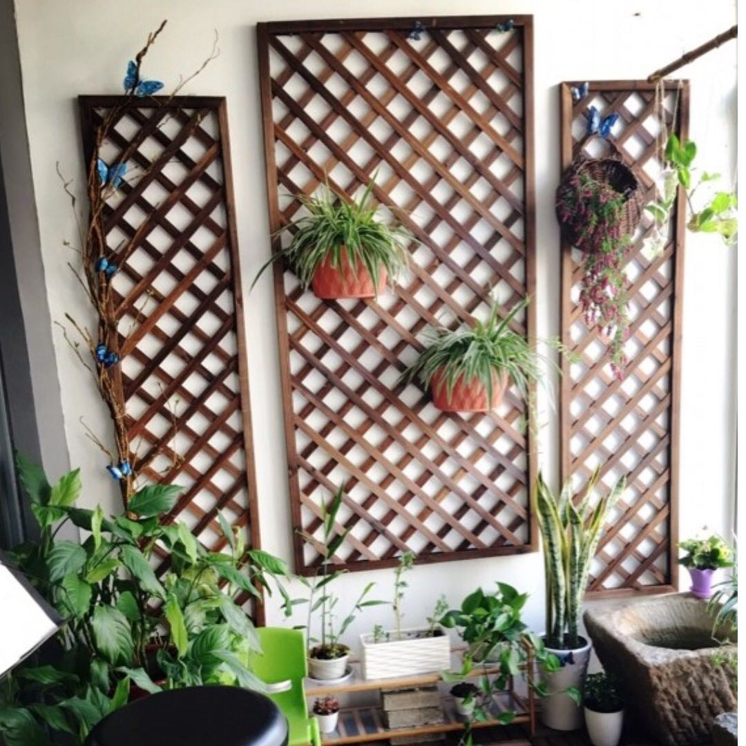Grid plant shelf hanging plant stand gardening on carousell