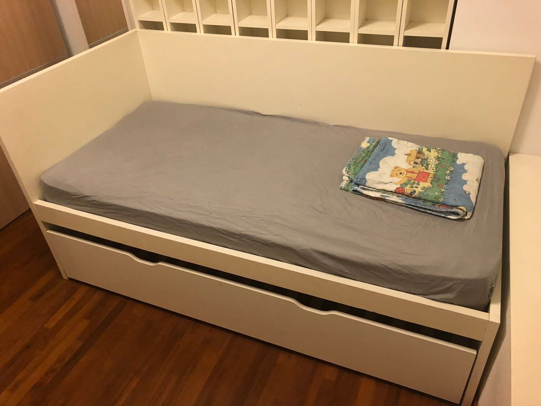 [Get 39+] Single Bed With Pull Out Bed Underneath Ikea