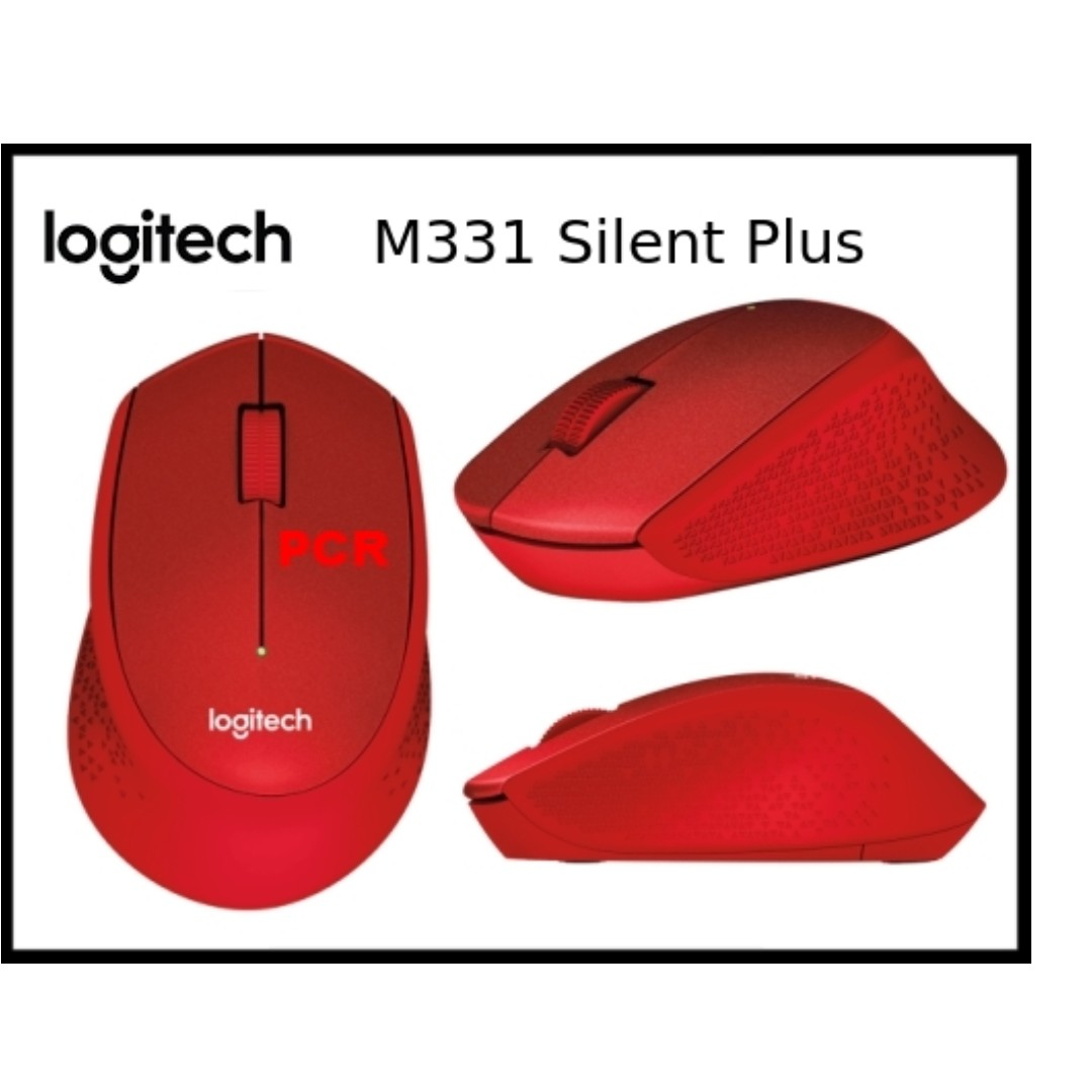 Logitech M331 Silent Plus Wireless Mouse Red Electronics Computer Parts Accessories On Carousell
