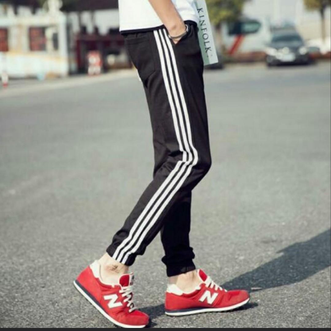 b8c39d0f2f Men's Track Pants Jogging Pants Three striped Pants, Men's Fashion ...