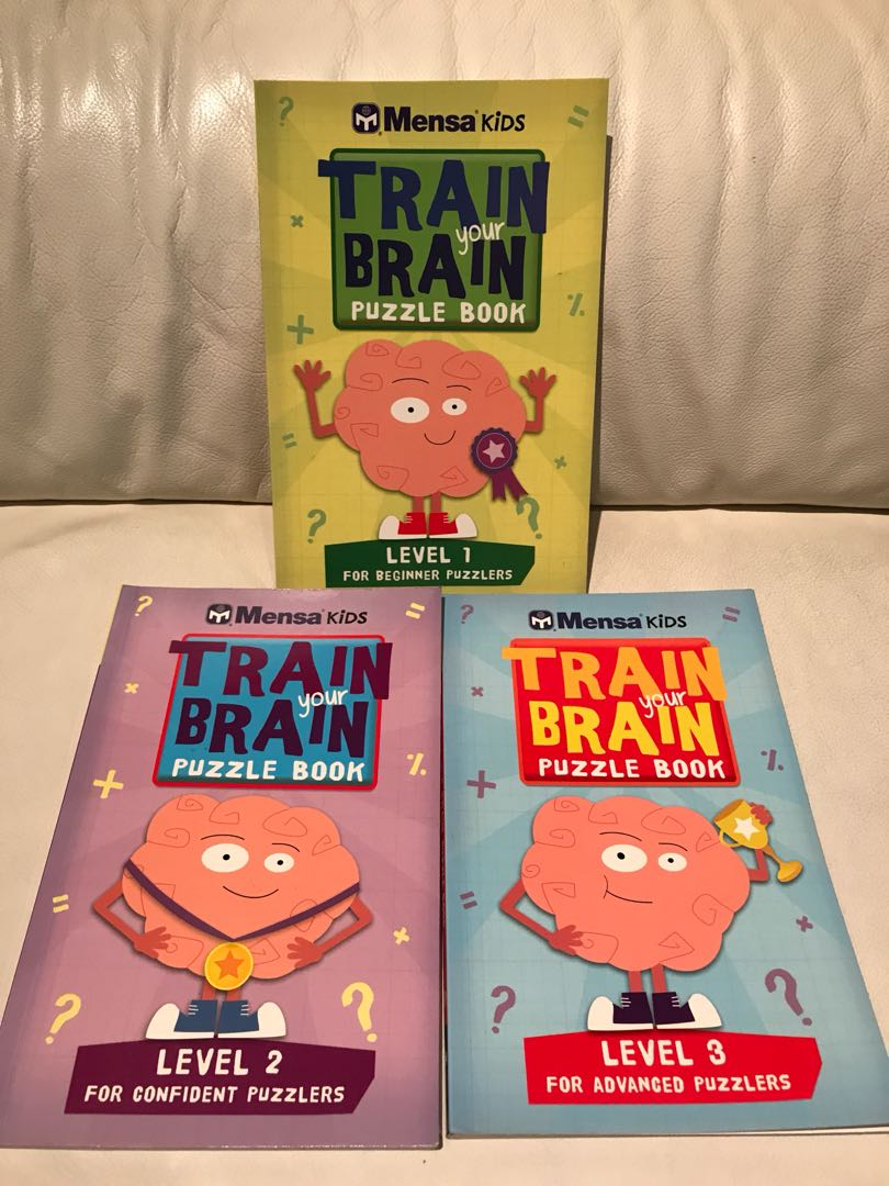 Mensa Kids Train your brain puzzle books 1-3 complete, Books