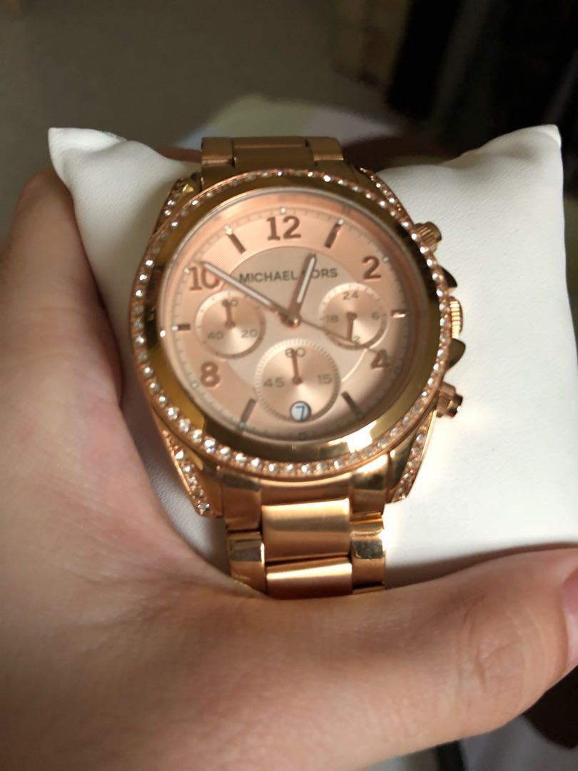 Michael Kors Watch Rose Gold Gold Women S Fashion Watches On