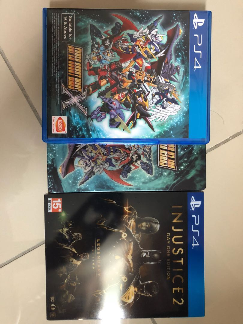 Ps4 Injustice 2 Legendary And Super Robot Wars X Video Gaming Sony Playstation R3 Games On Carousell