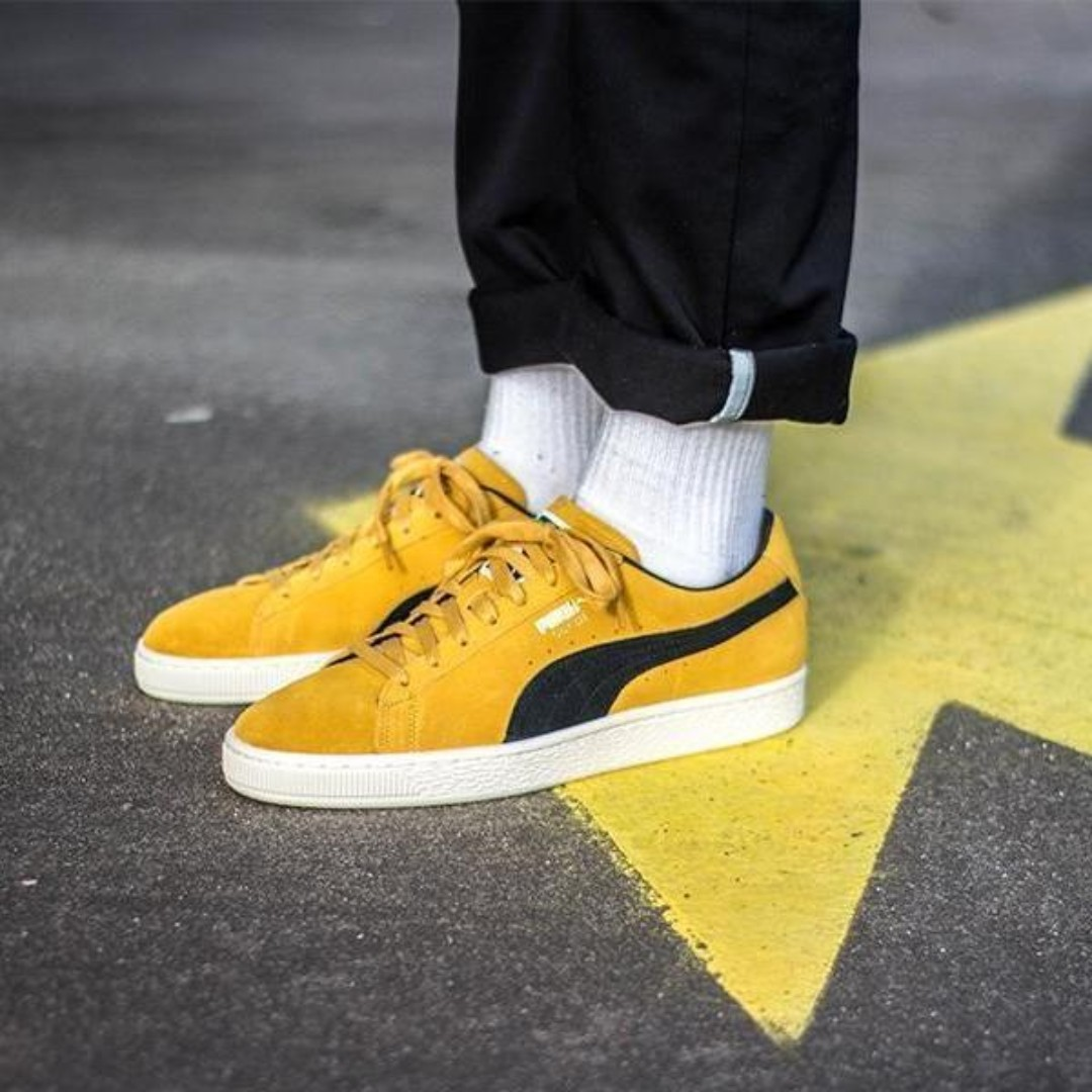 puma suede gialle