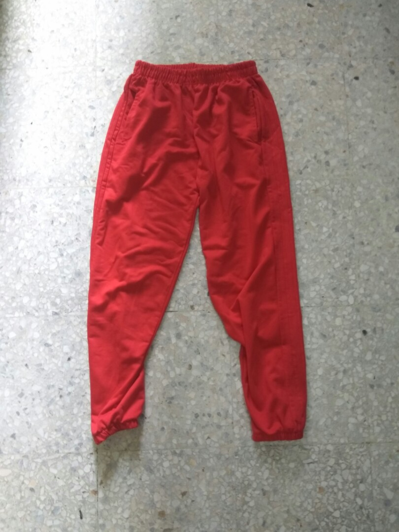 0853bfe96 Red stripes jogger pants, Men's Fashion, Clothes, Bottoms on Carousell
