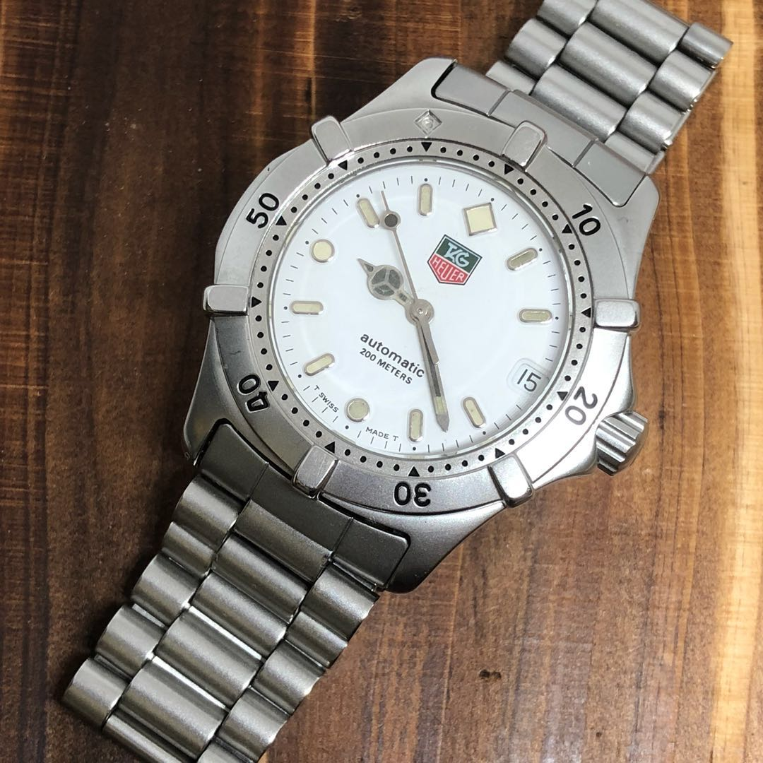 013f073f757 Tag Heuer WE2211 Automatic 34mm White Steel Watch