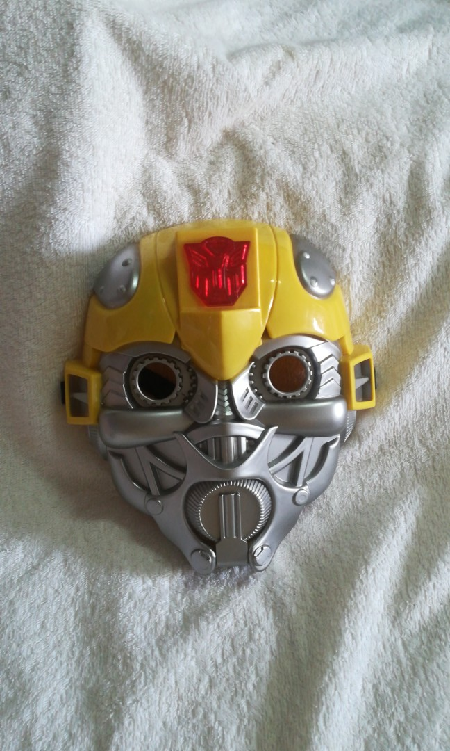 Transformers Bumblebee Face Mask with Sound & LED Lights