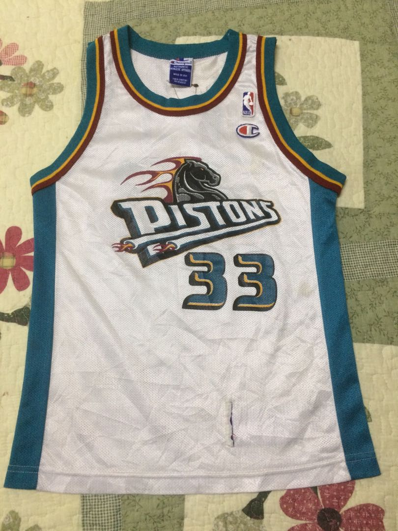 100% authentic 02ea9 c0535 Vintage Champion Detroit Pistons #32 Grant Hill Basketball Jersey
